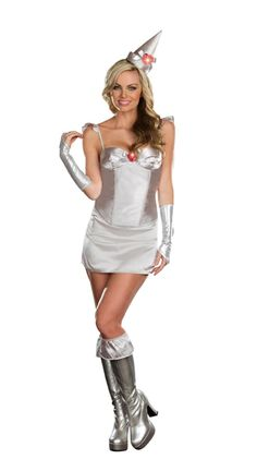 Just the the Great and Powerful Oz! How about the Totally Tin Woman Sexy Halloween Costume from Dreamgirl. Now at Teezers Costumes! Comes with shorts and skirt! Tin Man Costumes, Costumes For Women, Queen Costume, Doll Costume, Cop Halloween Costume, Halloween Ideas, Fancy Dress Ball, Gypsy Dresses, Complete Outfits