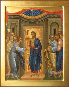 Thomas the Apostle St Thomas, Thomas The Apostle, Byzantine Art, Byzantine Icons, Religious Icons, Religious Art, Doubting Thomas, Life Of Christ, Religion