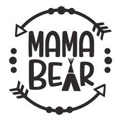 Silhouette Design Store: Mama Bear logo Source by Silhouette Design, Bear Silhouette, Silhouette Cameo Projects, Silhouette Machine, Free Font Design, Design Logo, Bear Logo, Vinyl Shirts, Cricut Vinyl