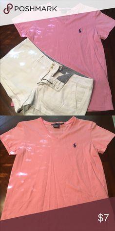 Light pink Ralph Lauren Polo Sport t-shirt, small Light pink Ralph Lauren Polo Sport t-shirt. Semi-fitted. Size small. 100% Pima cotton. Ralph Lauren Tops Tees - Short Sleeve