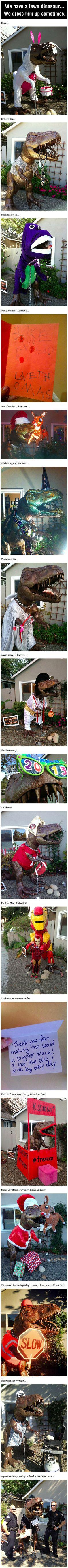 Quiero un dinosaurio en mi jardín