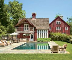red barn house pool Home