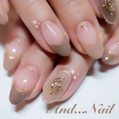 French Taupe Natural Bijou nails nailart from ameblo. - French Taupe N. - French Taupe Natural Bijou nails nailart from ameblo. - French Taupe Natural Bijou nails nailart from ameblo. Neutral Nail Color, Nail Colors, Fancy Nails, Trendy Nails, Japanese Nails, Manicure E Pedicure, Nude Nails, Creative Nails, Gorgeous Nails