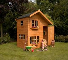 rowlinson hideaway house kids playhouse from garden shed stores httpwwwgardenshedstorescoukrowlinson hideaway house kids playhousehtm pinterest
