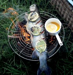 BRAAI: Whole char-grilled salmon trout with lemon-infused butter