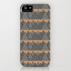 Geometric Mountain Range - iPhone Case