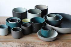 Jill Shaddock / slip cast ceramic ware.