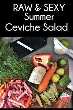 🌿🌞🍃🌶️RAWCIPE! Fast & Super RAWlish Organic Sexy Summer Ceviche Salad. Great for a Pool Party! Who doesn't like Limey Slaw! Chop RAW & Organic Veggies into toothpick-like slices.... Carrots, Onions, Daikon Radish, Red Radish, Sunchoke, Red Pepper, Beet, Cucumber. Add Fennel, Apple Cider Vinegar, Lime Juice and plenty of @tajin Seasoning! Ceviche, Fennel, Lime Juice, Cider Vinegar, Raw Vegan, Beets, Apple Cider, Onions, Cucumber