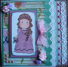 Birthday card, Lady Tilda, (front of card)