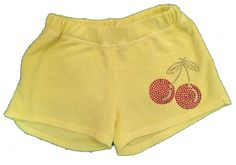 Firehouse Cherries Rhinestone Shorts