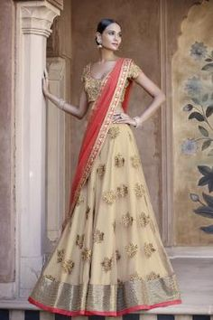 ETHNIC GRANDEUR 5047 3 Piece Lehenga Saree Set In Subtle Beige And Fuschia Pink Combination Will Give Fashionable Woman All The Reasons To Hog The Limelight. Comprises A Beige Net Skirt In All Over Badla Zari Butas Alongwith Pallu In Fuschia Net Fabric Buy Now:- http://eshop.nakkashi.in/ethnic-grandeur-5047.html