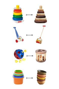 Non-plastic alternatives to plastic toys - ♡ForThePlanet♡ - Baby Diy Wood Projects, Woodworking Projects, Woodworking Toys, Woodworking Patterns, Plastic Alternatives, Eco Baby, Natural Baby, Baby Play, Wood Toys