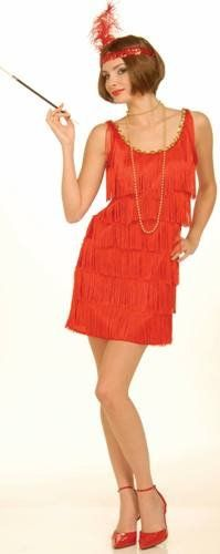 Womens Sexy Adult 1920s Costume 20s Dancer Flapper Girl Party Outfit