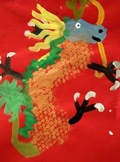 Artsonia Art Museum :: Chinese New Year Dragon - 2nd Grade