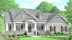 The Ambler is a one-level, foot ranch style plan that is perfect for a growing family. The plan features three bedrooms, a screened deck and a large open kitchen that looks out onto a… One Level House Plans, One Level Homes, Lake House Plans, House Plans One Story, Ranch House Plans, Cottage House Plans, Best House Plans, Dream House Plans, House Floor Plans