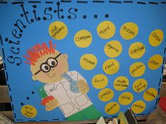 i like the idea of the class coming up with the verbs for this bulletin board/poster
