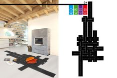 Create your own carpet, adapted to your space, by weaving the strips of felt through each others. Create Yourself, Create Your Own, Your Space, Carpet, Floor Plans, Blankets, Rug, Floor Plan Drawing, House Floor Plans
