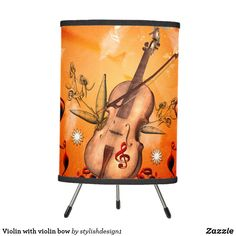 Violin with violin bow tripod lamp by #stylishdesign1 |  | #S6GTP ~ Created by one of my friends at  Zazzle ~