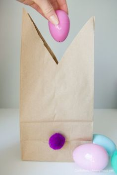 Easter bunny gift bags with free printable tags easter bunny whip up these easy easter bunny gift bags in minutes negle