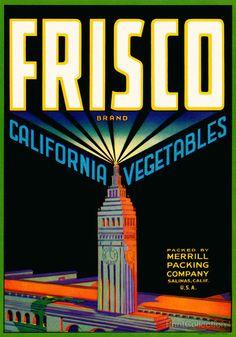 Print Collection - Frisco Brand California Vegetables