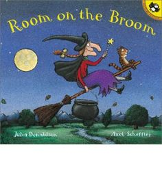 When a witch loses her hat and wand while riding her broomstick, three helpful animals find the missing items. All they want in return is a ride on the broom. Is there room on the broom