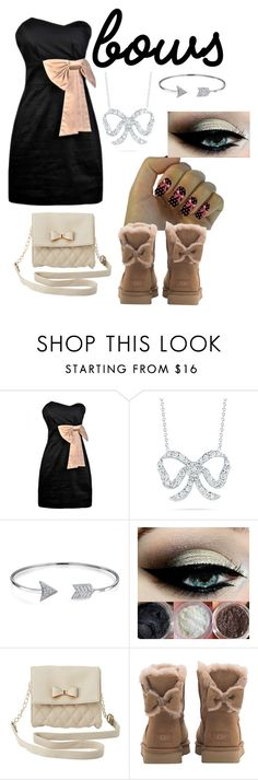"""Bows"" by valerie163 ❤ liked on Polyvore featuring Roberto Coin, Bling Jewelry, Charlotte Russe and UGG"