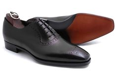 Handmade Oxford Leather Shoes, Dress Formal Boots Office Brogue Shoes Men #Handmade #Oxfords