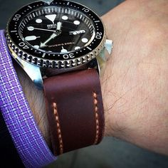 A hand-stitched Leather Scrap watch band. So classy. | Saddleback Leather Co. | Leather Scrap Set | 100 Year Warranty | $25