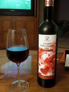 Tree Of Life Pomegranate Wine. A particularly good fruit wine.
