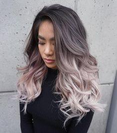Серое омбре — один из главных трендов этого сезона! Светлые Волнистые  Волосы a48740a8cbcc5