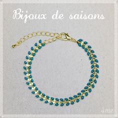 ♡ www.lesinutiles.fr ♡ bijoux fantaisie, bijoux de saisons, bracelet turquoise - Photo ©Lesinutiles