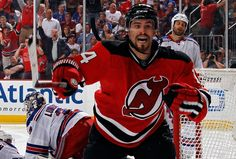 Adam Henrique! Game winning goal 63 seconds into over time to advance the NJ Devils to the Stanley Cup Finals! :D