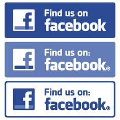 Free download Find us on Facebook vector