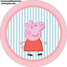 Peppa Pig: Free Printable Labels and Toppers.