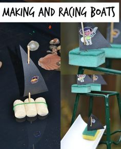 Making and racing boats - a great little activity for anyone with a travel/ transport theme this term
