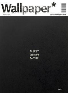 *graphic design, magazine cover, black and white* Wallpaper