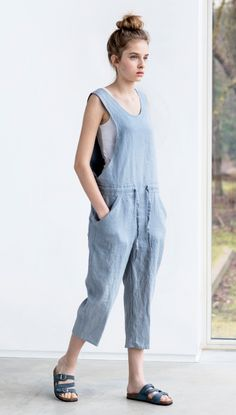 Washed Linen Jumpsuit | Etsy