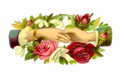 victorian art   Images: Victorian Clip Art: Red and Pink Rose Clip Art with Victorian ...