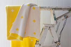Lemon Zest Cross Blanket by Jamie Kay