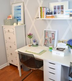 Casey's home office | Customised HEMNES drawers | live from IKEA FAMILY