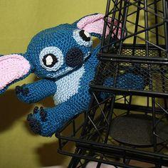 Guarda un po' chi spunta dalla mia Tourre Eiffel…un piccolo Stitch! Stitch from Lilo&Stitch Amigurumi Pattern