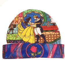 Beauty and the Beast Stained Glass Hat   Disney Princess   Belle Winter Hat