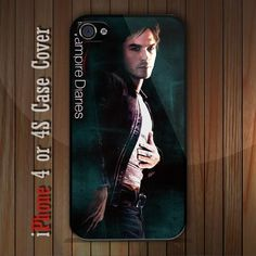 New The Vampire Diaries DAMON SALVATORE  iPhone 4 or 4S case Cover iPhone case 4 - 1