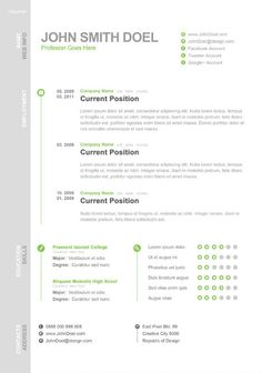 Free Resume Templates for Creative Minds | Modern resume template ...