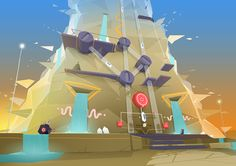 The graphic design of the exploratory mobile game, Adventures of Poco Eco – The…