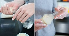 Zit jij ook vaak te peuteren en prutsen om de kalkaanslag of vuilafzetting in een fles of vaas eruit te krijgen? Aanschouw de magische kracht van simpele droge rijst als schuurmiddel. Scheutje azijn, een paar druppeltjes afwasmiddel en klaar! Wat zeggen we, zonneklaar!