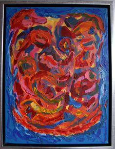 Le facce, piu o meno, Ansigterne, mere eller mindre?, 40 x 30 cm acrylic on canvas.