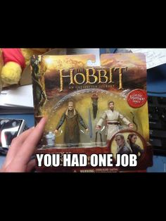 You had one job! ONE JOB! PIT TAURIEL IN THE PACKAGE, NOT OBI-WAN!  What the fudge is this?
