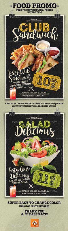Food Promotion Flyer Poster - PSD Template • Only available here! →…