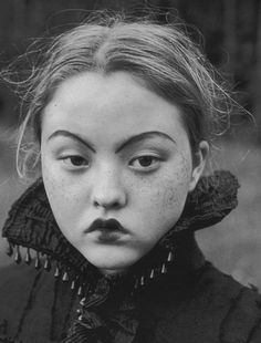 'The Wood Tale' Devon Aoki by Juergen Teller for Vogue Russia October 1998